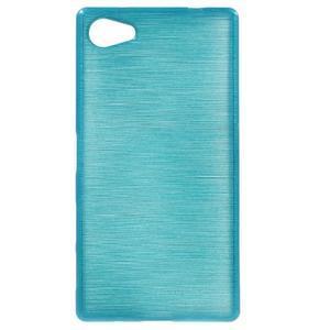 Brush gelový obal na Sony Xperia Z5 Compact - modrý - 1