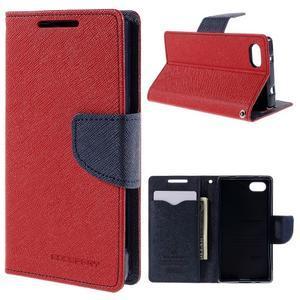 Fancy PU kožené pouzdro na Sony Xperia Z5 Compact - červené - 1