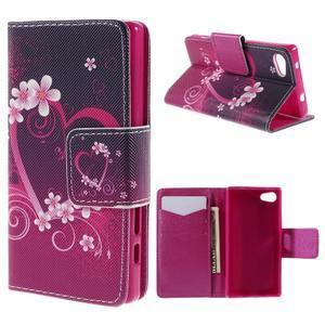 Diary peněženkové pouzdro na Sony Xperia Z5 Compact - srdce - 1