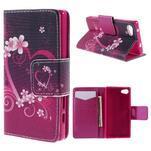 Diary peněženkové pouzdro na Sony Xperia Z5 Compact - srdce - 1/7