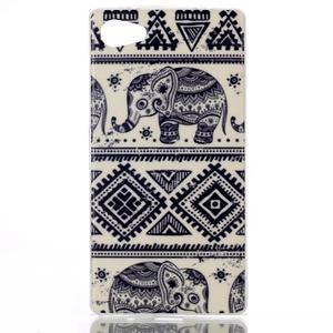 Sally gelový obal na Sony Xperia Z5 Compact - sloni - 1