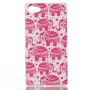 Sally gelový obal na Sony Xperia Z5 Compact - růžoví sloni - 1