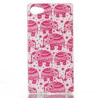Sally gelový obal na Sony Xperia Z5 Compact - růžoví sloni - 1/3
