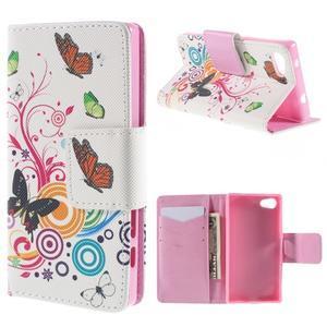 Diary peněženkové pouzdro na Sony Xperia Z5 Compact - motýlci - 1