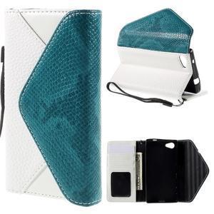 Stylové peněženkové pouzdro na Sony Xperia Z5 Compact - modré - 1