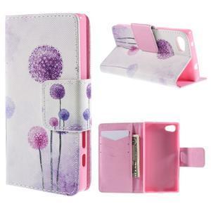 Diary peněženkové pouzdro na Sony Xperia Z5 Compact - pampelišky - 1