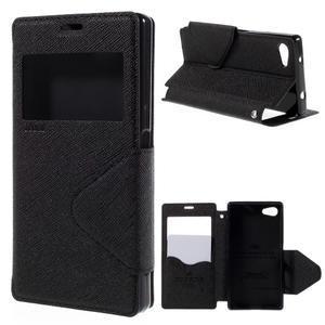 Pouzdro s okýnkem na Sony Xperia Z5 Compact - černé - 1