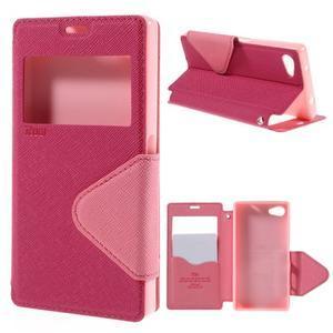 Pouzdro s okýnkem na Sony Xperia Z5 Compact - rose - 1