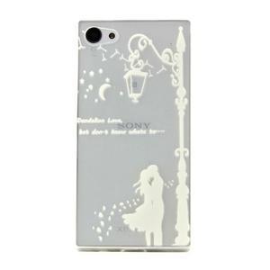 Transparentní gelový obal na Sony Xperia Z5 Compact - láska pod lampou - 1