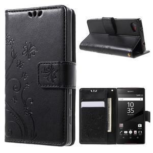 Butterfly peněženkové pouzdro na Sony Xperia Z5 Compact - černé - 1