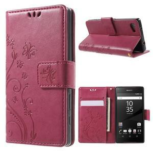 Butterfly peněženkové pouzdro na Sony Xperia Z5 Compact - rose - 1