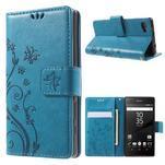 Butterfly peněženkové pouzdro na Sony Xperia Z5 Compact - modré - 1/6