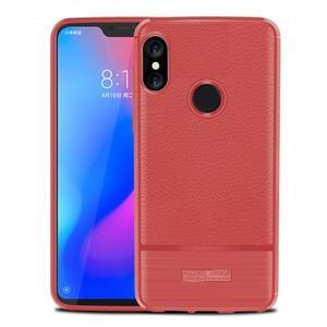 Litch odolný gelový kryt na mobil Xiaomi Mi A2 Lite - červený - 1