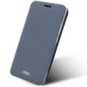 Klopové PU kožené pouzdro na Xiaomi Mi5 - šedé - 1