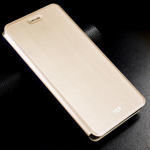 Vintage stylové PU kožené pouzdro na mobil Xiaomi Mi5 - zlaté - 1