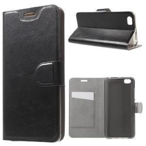 Horse peněženkové pouzdro na mobil Xiaomi Mi5 - černé - 1