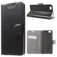 Horse peněženkové pouzdro na mobil Xiaomi Mi5 - černé - 1/7
