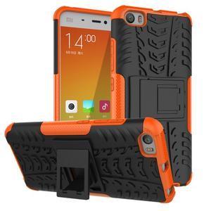 Odolný outdoor obal na mobil Xiaomi Mi5 - oranžový - 1