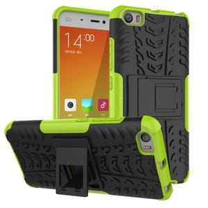 Odolný outdoor obal na mobil Xiaomi Mi5 - zelený - 1