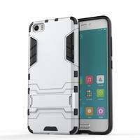 Hybridní odolný kryt na mobil Xiaomi Mi5 - stříbrný - 1/4