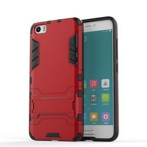 Hybridní odolný kryt na mobil Xiaomi Mi5 - červený - 1
