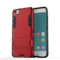 Hybridní odolný kryt na mobil Xiaomi Mi5 - červený - 1/4