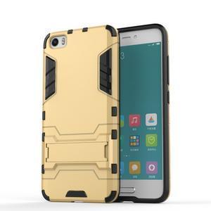 Hybridní odolný kryt na mobil Xiaomi Mi5 - zlatý - 1