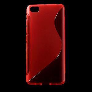 S-line gelový obal na mobil Xiaomi Mi5 - červený - 1