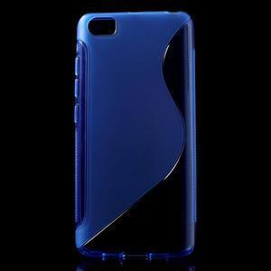 S-line gelový obal na mobil Xiaomi Mi5 - modrý - 1