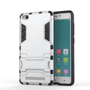 Hybridní gelový obal na Xiaomi Redmi 3 - stříbrný - 1