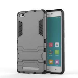 Hybridní gelový obal na Xiaomi Redmi 3 - šedý - 1