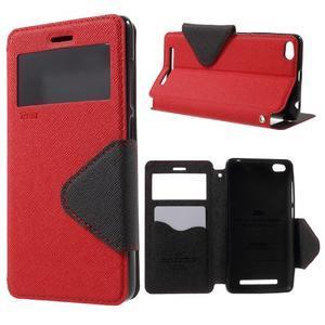 Diary view peněženkové pouzdro na Xiaomi Redmi 3 - červené - 1