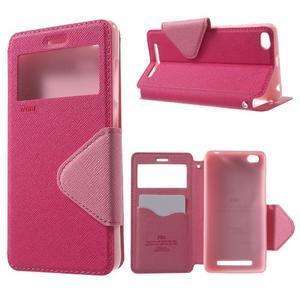 Diary view peněženkové pouzdro na Xiaomi Redmi 3 - rose - 1