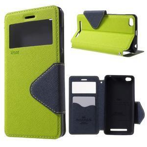 Diary view peněženkové pouzdro na Xiaomi Redmi 3 - zelené - 1