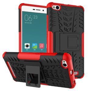 Outdoor odolný obal na mobil Xiaomi Redmi 3 - červený - 1