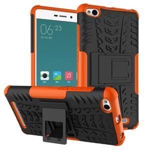 Outdoor odolný obal na mobil Xiaomi Redmi 3 Pro - oranžový - 1