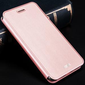 Vintage PU kožené pouzdro na Xiaomi Redmi 3 - růžové - 1