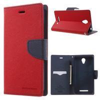 Goos PU kožené pouzdro na Xiaomi Redmi Note 2 - červené - 1/7