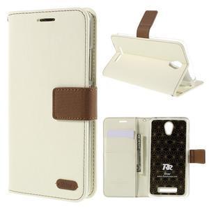 Bílé peněženkové pouzdro na mobil Xiaomi Redmi Note 2 - 1