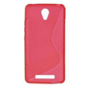 S-line gelový obal na mobil Xiaomi Redmi Note 2 - červený - 1