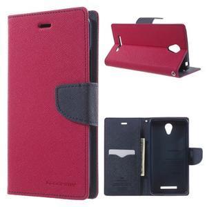 Goos PU kožené pouzdro na Xiaomi Redmi Note 2 - rose - 1