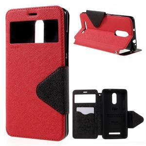 Diary pouzdro s okýnkem na mobil Xiaomi Redmi Note 3  - červené - 1