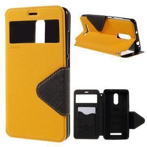 Diary pouzdro s okýnkem na mobil Xiaomi Redmi Note 3  - žluté - 1