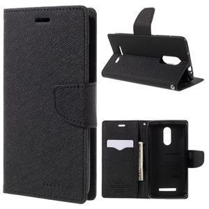 Wallet PU kožené pouzdra na Xiaomi Redmi Note 3 - černé - 1