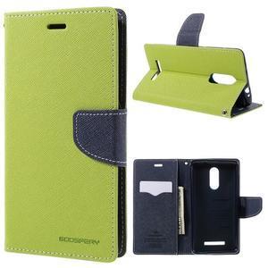 Wallet PU kožené pouzdra na Xiaomi Redmi Note 3 - zelené - 1