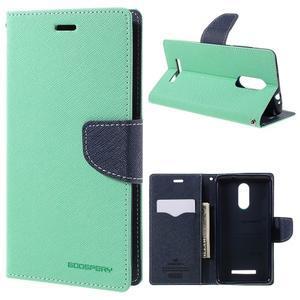 Wallet PU kožené pouzdra na Xiaomi Redmi Note 3 - azurové - 1