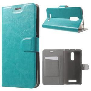 Horse PU kožené pouzdro na Xiaomi Redmi Note 3 - modré - 1