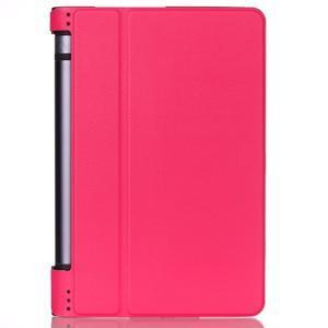 Polohovatelnotelné PU kožené pouzdro na Lenovo Yoga Tab 3 8.0 - rose - 1