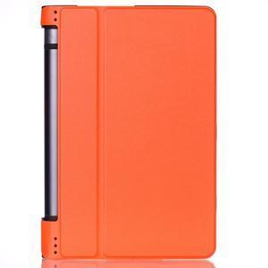 Polohovatelné PU kožené puzdro pre Lenovo Yoga Tab 3 8.0 - oranžové - 1
