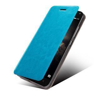 Mofir PU kožené pouzdro na Lenovo Vibe P1 - modré - 1